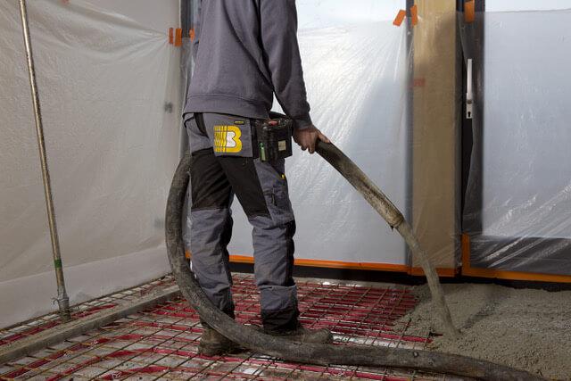 Stortproces betonvloer