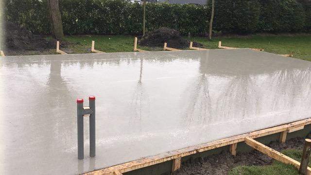 Resultaat: gladde betonvloer